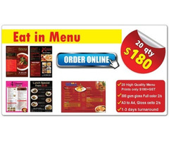 Restaurant Menu Printing & Brochure Printing at Cheap Prices