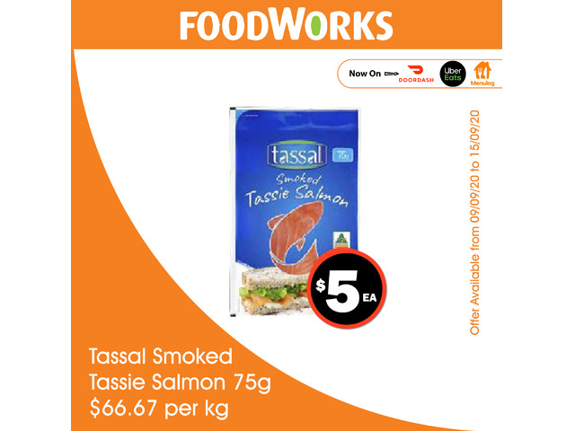 Tassal Smoked Tassie Salmon - Essential Item, FoodWorks Clovelly - 1