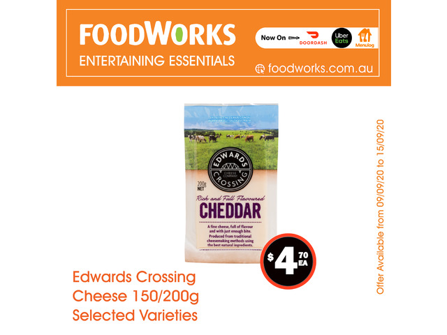 Edwards Crossing Cheese - Essential Item, FoodWorks Clovelly - 1