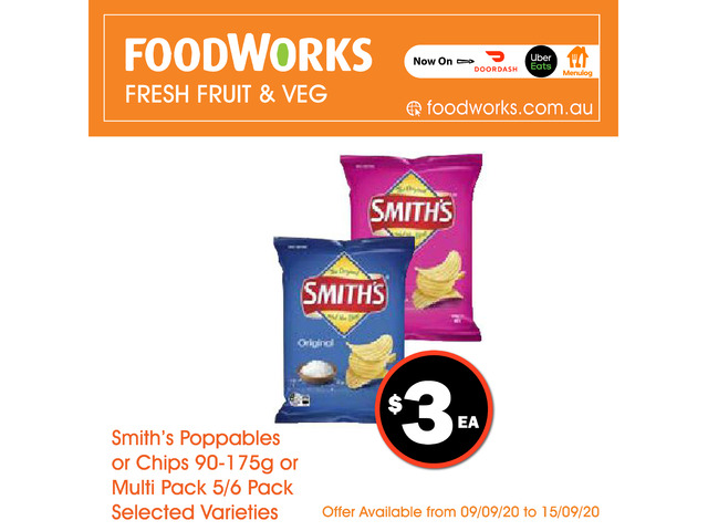 Smith's Poppables or Chips - Essential Item, FoodWorks Clovelly - 1