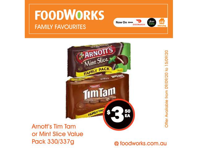 Arnott's Tim Tam or Mint Slice Value Pack - Essential Item, FoodWorks Clovelly - 1
