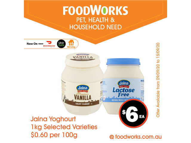 Jalna Yoghour - Essential Item, FoodWorks Clovelly - 1