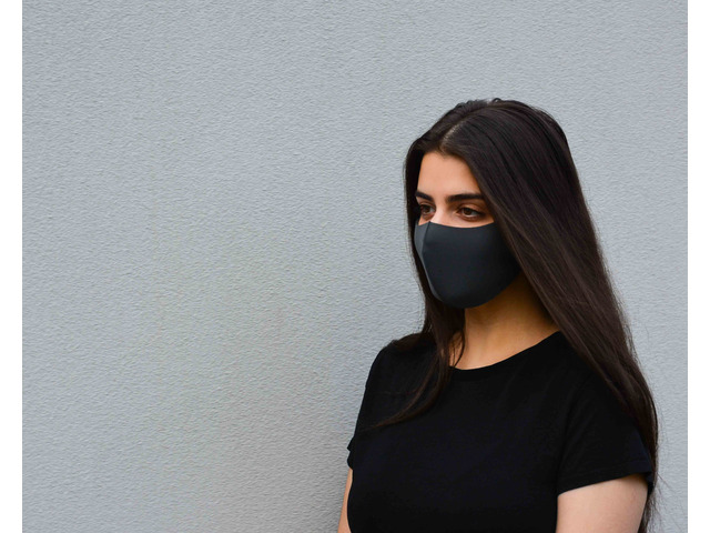 Black Fabric Face Mask for Sale in Australia - 1