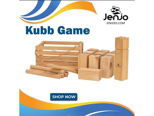 Kubb Game | Perfect for Camping Trip | Jenjo Games - Australia - 1