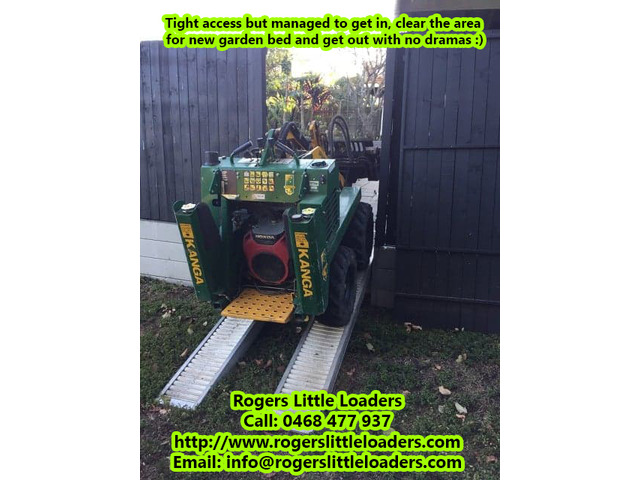 Tight Access Machinery Landscaping Services - Rogers Little Loaders. - 2