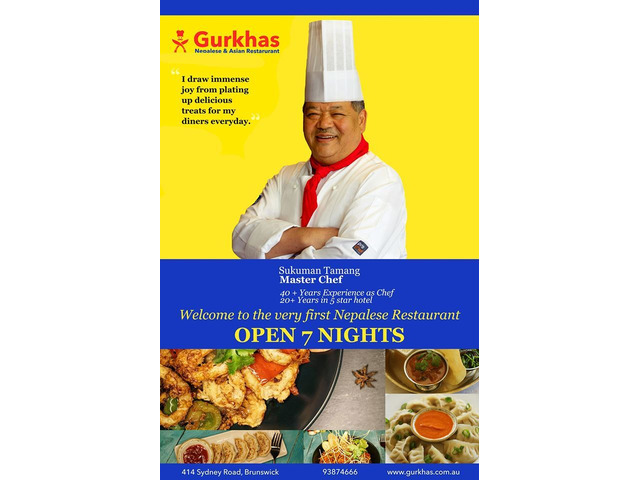 Now order your favourite Nepali cuisines at our restaurant in Brunswick - 3