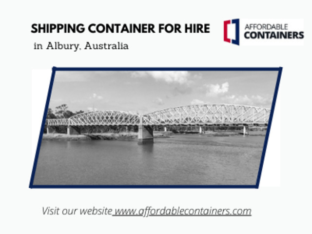 Shipping containers for sale in Albury – Affordable Containers - 1