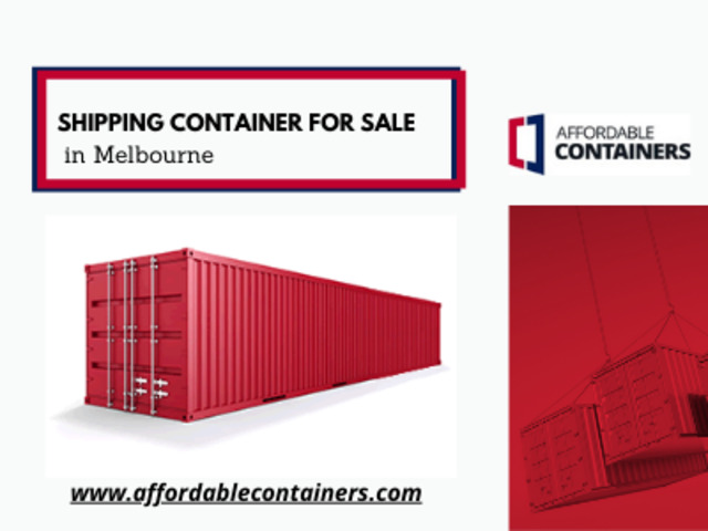 Shipping container for sale in Melbourne – Affordable Containers - 1