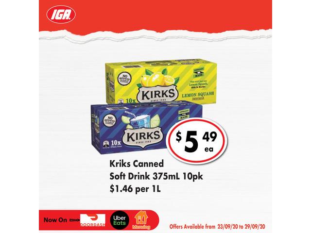 Kriks Canned Soft Drink On Sale IGA Ravenswood - 1