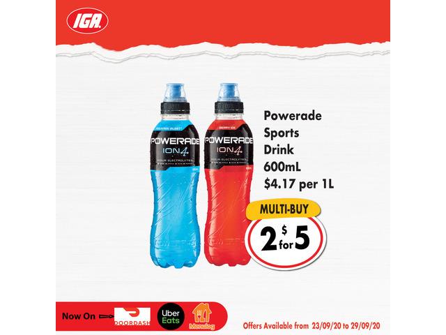 Powerade Sports Drink On Sale IGA Ravenswood - 1