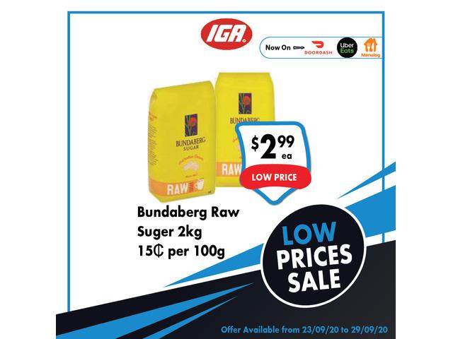 Bundaberg Raw Suger On Sale IGA Ravenswood - 1