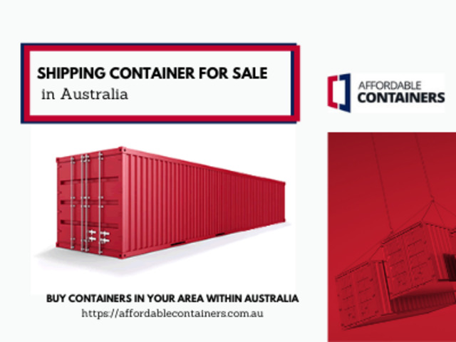 Buy shipping containers in Australia – Affordable Containers - 1