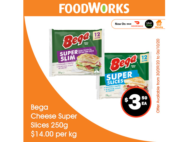 Bega Cheese Super Slices - Essential Item, FoodWorks Clovelly - 1