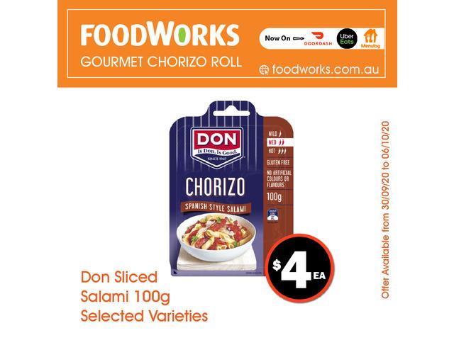 Don Sliced Salami - Essential Item, FoodWorks Clovelly - 1