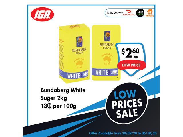 Bundaberg White Suger - Grocery Item, IGA Ravenswood - 1