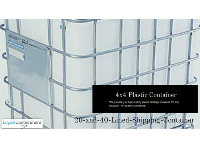 Liquid Containment Provides High-Quality 4x4 Plastic Container - 1
