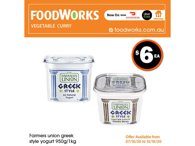 Farmers Union Greek Style Yogurt - Essential Item, FoodWorks Clovelly - 1