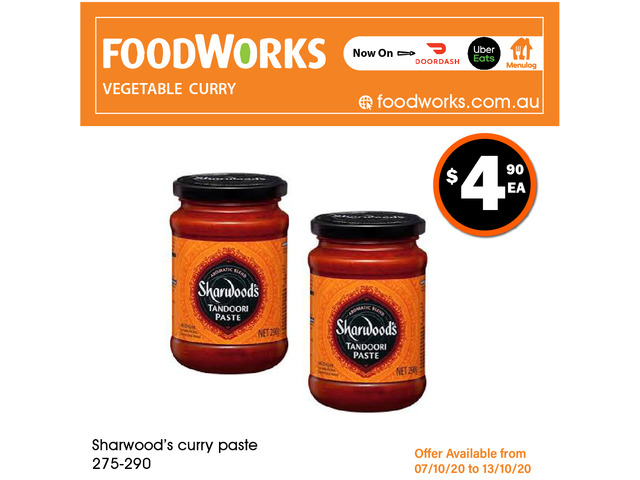 Sharwood's Curry Paste - Essential Item, FoodWorks Clovelly - 1