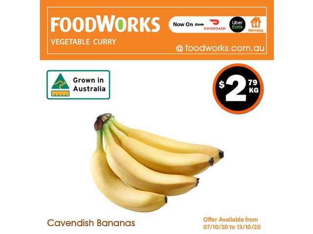 Cavendish Bananas - Essential Item, FoodWorks Clovelly - 1