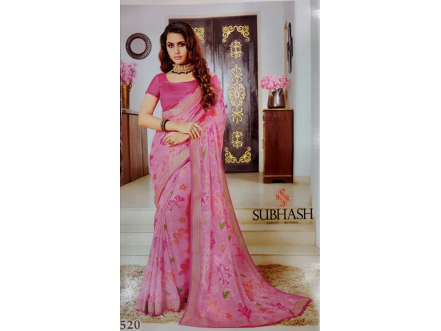 Shop Handcrafted With Delicate Trending Embroidery and Pattern Work Ethnic Sarees - 1