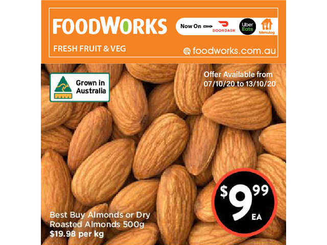 Best Buy Almonds or Dry Roasted Almonds - Essential Item, FoodWorks Clovelly - 1