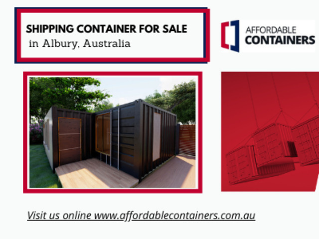 Affordable shipping containers in Albury, Australia – Buy Now! - 1