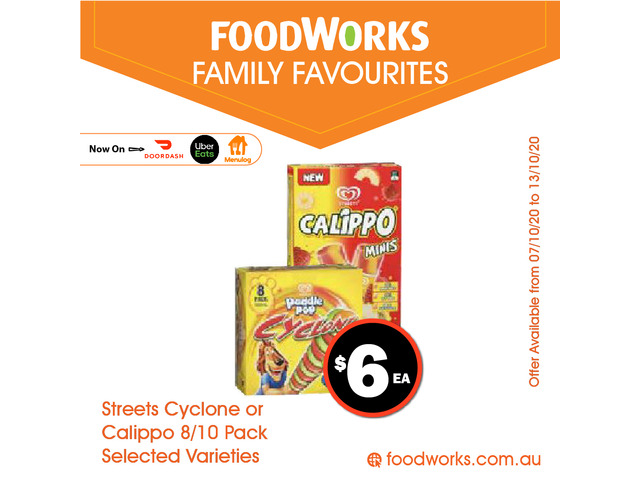 Streets Cyclone or Calippo - Essential Item, FoodWorks Clovelly - 1