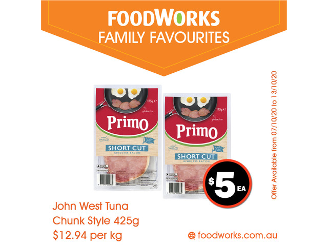 John West Tuna Chunk Style - Essential Item, FoodWorks Clovelly - 1