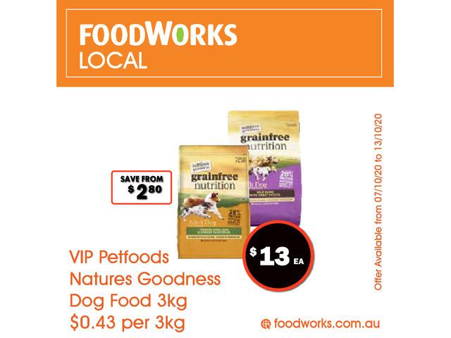 VIP Petfoods Natures Goodness Dog Food - Essential Item, FoodWorks Clovelly - 1