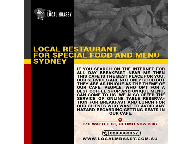 Want a Local Restaurant for Special Food and Menu in Sydney? - 1