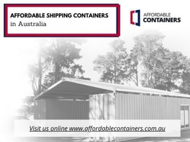 Buy affordable shipping containers in Australia - 1