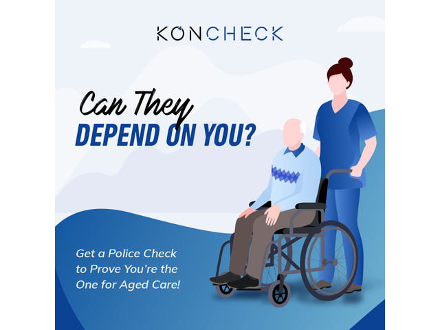 Starting job as a Volunteer in Aged Care? Apply for your Police Check from KONCHECK - 1