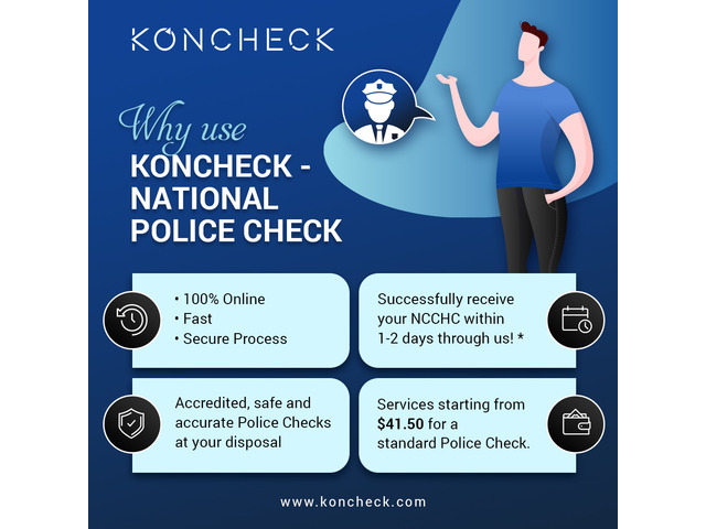 Australian Police Check at the lowest price I Apply at KONCHECK - 1