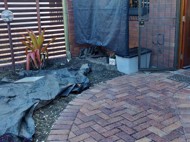 Courtyard paving. - Rogers Little Loaders - 1