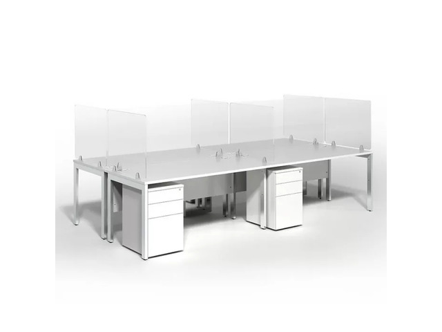 CLEAR ACRYLIC DESK DIVIDER - 1