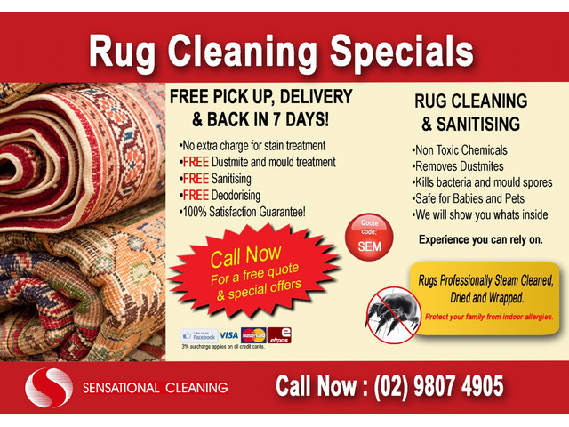 Rug cleaning pickup and delivery near me - 1