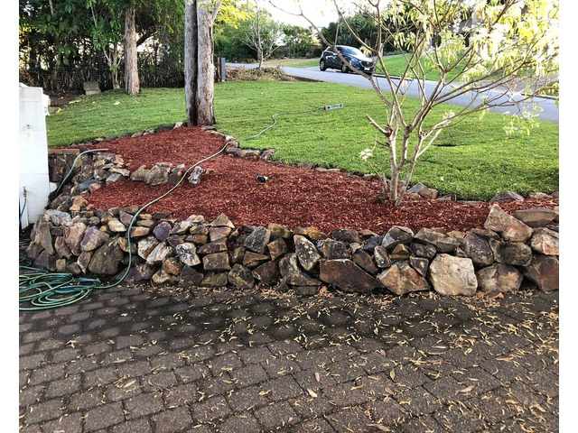 Mulching and turfing on June 14 at Fig Tree Pocket. - 5