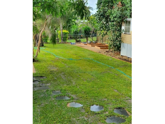 Landscaping using Rogers Little Loaders machinery on June 14 at Nundah, Queensland. - 2