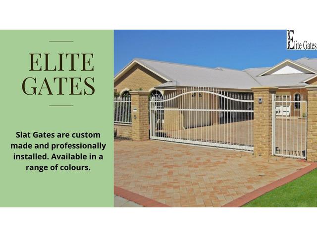 Perth Slat Gates Home garden | Elite Gates & - 1