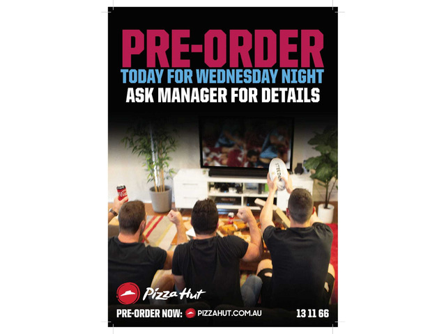 Pre-Order Today for Wednesday Night - 1