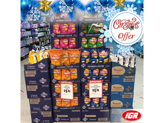Smith's Potato Chips - Christmas Offer - IGA Ravenswood - 1