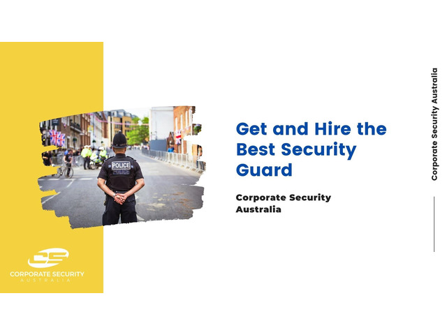 Contact with Corporate Security Australia & Get the Best Corporate Event Security - 1