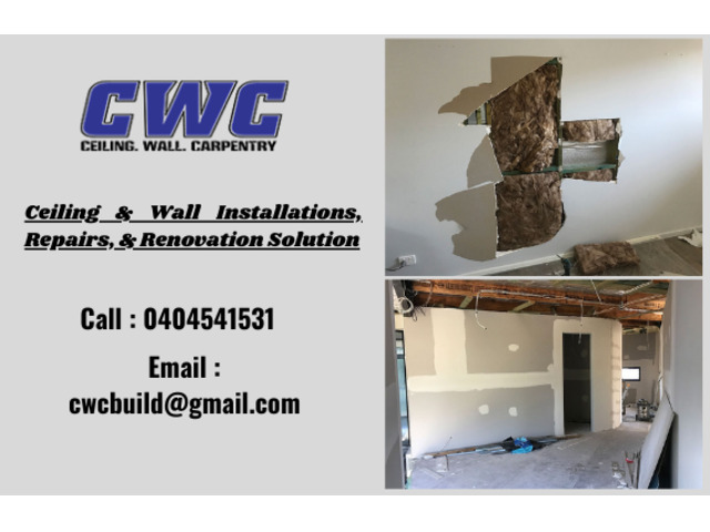Your One-stop Ceiling & Wall Installations, Repairs, & Renovation Solution - 1