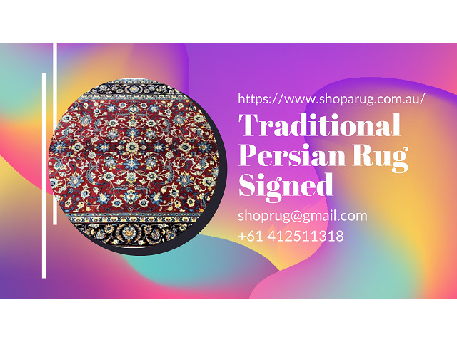 Traditional Persian Rug Signed - 1
