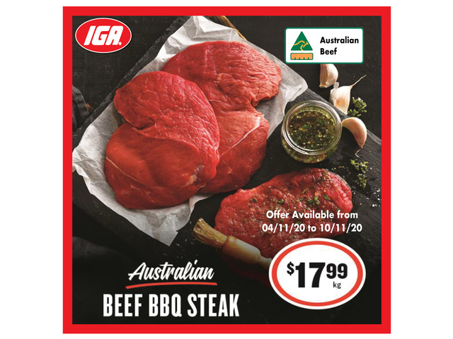 Beef BBQ Steak - Grocery Item, IGA Ravenswood - 1