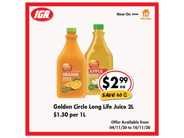 Golden Circle Long Life Juice - Grocery Item, IGA Ravenswood - 1