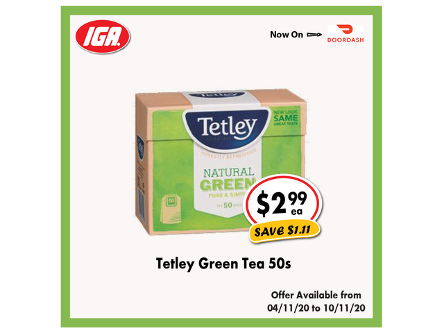 Tetley Green Tea - Grocery Item, IGA Ravenswood - 1