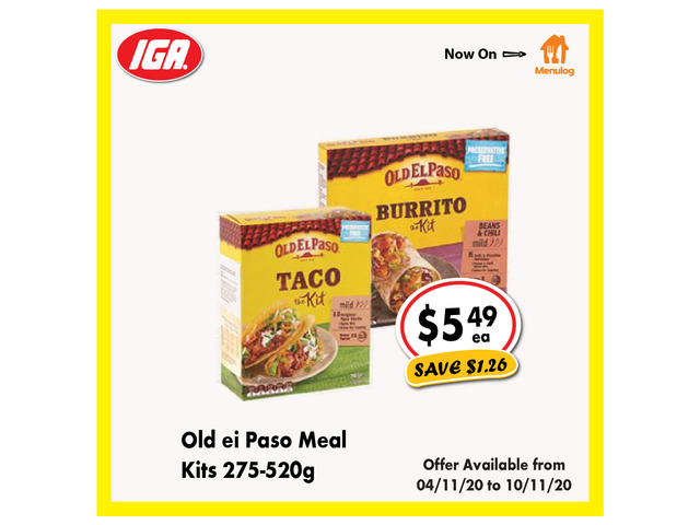 Old ei Paso Meal Kits - Grocery Item, IGA Ravenswood - 1