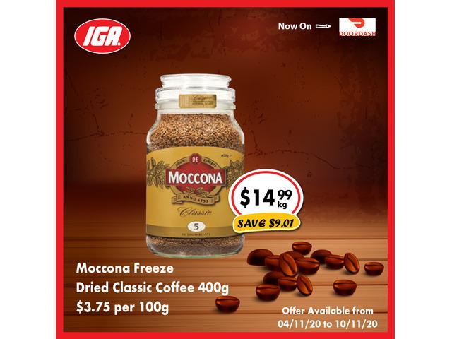 Moccona Freeze Dried Classic Coffee - Grocery Item, IGA Ravenswood - 1