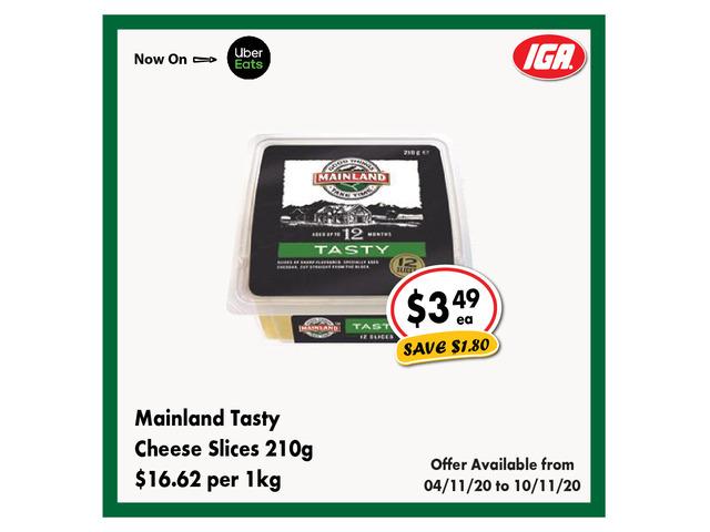 Mainland Tasty Cheese Slices - Grocery Item, IGA Ravenswood - 1